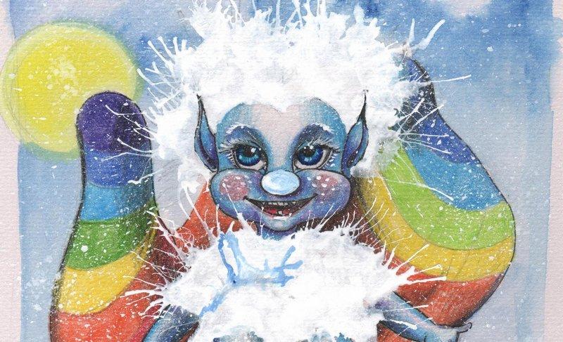 Снежный Эльф - книга для детей на двух языках